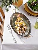 Chicken, Artichoke & Lemon Skewers