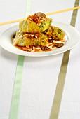 Fagottino di verza al tartufo (Savoy cabbage roulade with truffles, Italy)