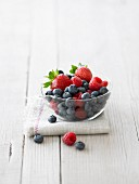 Berries in a glass bowl