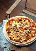 Mushroom and Prosciutto Pizza