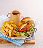 Pub-style schnitzel burger