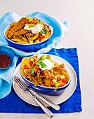 Veal schnitzel nachos