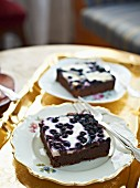Almond cake with blueberries