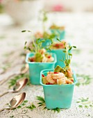 Shrimp ceviche for a summer festival