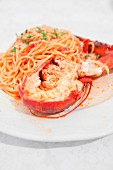 Spaghetti with lobster (Apulia, Italy)