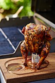 Beer Can Chicken on a Grill