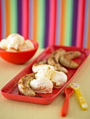 Kids Hot Bananas with Vanilla Ice-Cream