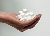 Sugar consumption,conceptual image
