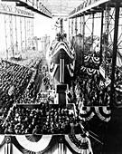 USS Nautilus submarine christening,1954