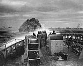 Attack on German submarine U-175,1943