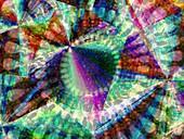 Abstract polarised light micrograph