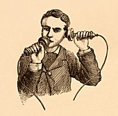 How to use a telephone illustration