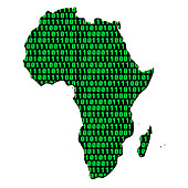Digital Africa,conceptual image