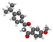 Avobenzone sunscreen molecule