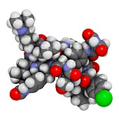 Degarelix prostate cancer drug molecule