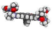 Elbasvir hepatitis C virus drug molecule