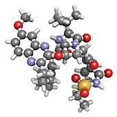 Grazoprevir hepatitis C drug molecule