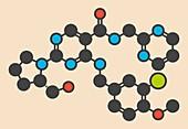Avanafil drug molecule
