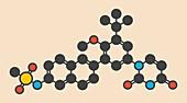 Dasabuvir hepatitis C drug molecule