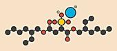 Docusate drug molecule