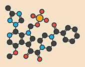 Fostemsavir HIV virus drug molecule