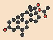 Megestrol acetate molecule