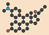 Mifepristone molecule