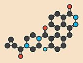 Olaparib cancer drug molecule