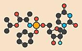 Sofosbuvir hepatitis C drug molecule