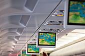 Screens in aeroplane