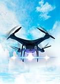 Futuristic drone,illustration