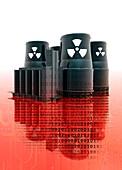 Nuclear power,illustration