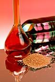 Elements: bromine,copper,silicon,aluminium