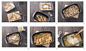 Riesling-Huhn mit Pilzen zubereiten