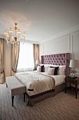 A beautiful double room in the Four Seasons Hotel, Hamburg