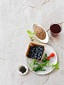 Superfoods: juice, berries and seeds