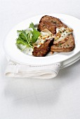 Fried veal liver with taleggio cheese