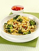 Bucatini with potatoes and broccoli