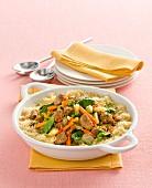 Couscous mit Schweinefleisch und Gemüse