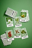 Superfood card game with healthy food