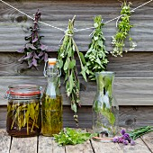 Homemade herbal oils