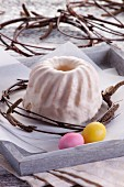 An iced Bundt cake for Easter
