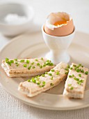 Soft-boiled Eggs with Smoked Trout Toast