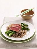 Tuna with Soba Noodles & Asparagus (Diabetes)