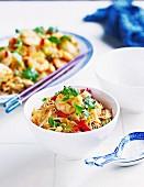 Singapore Noodles with prawns & chicken
