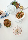 Beef stew with spinach