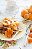 French toast with grilled peaches