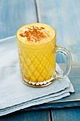 Turmeric latte with cinnamon (vegan)