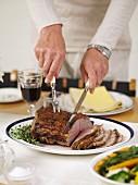 Cutting Roast Sirloin of Beef