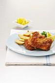 Backfisch mit Pommes frites